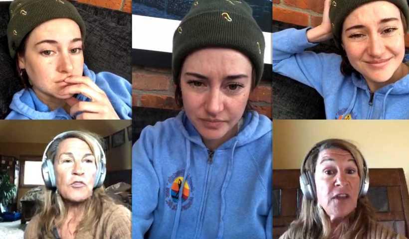 Shailene Woodley's Instagram Live Stream from April 3rd 2020.