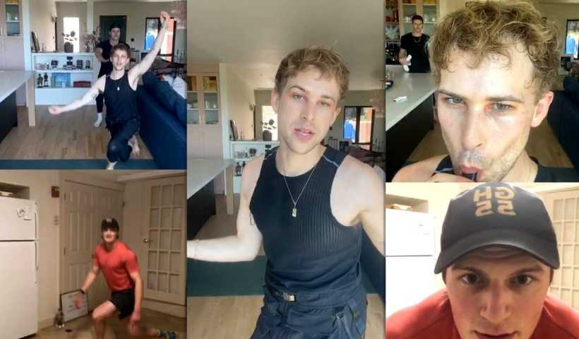 Tommy Dorfman's Instagram Live Stream from April 16th 2020.