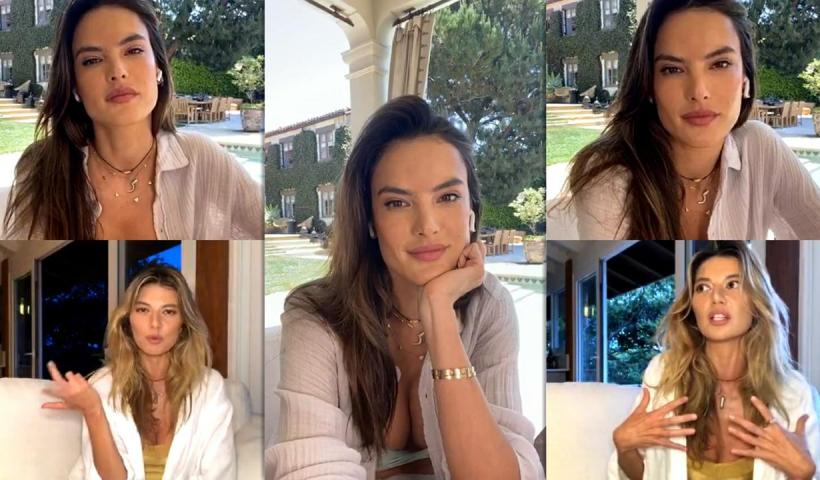 Alessandra Ambrosio's Instagram Live Stream from May 22th 2020.