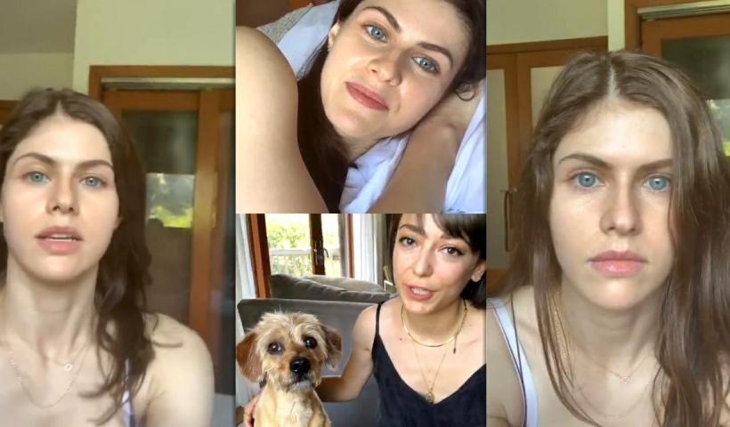 Alexandra Daddario's Instagram Live Stream from May 7th 2020.