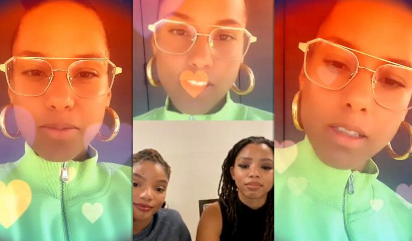 Alicia Keys' Instagram Live Stream with Chloe x Halle from May 29th 2020.