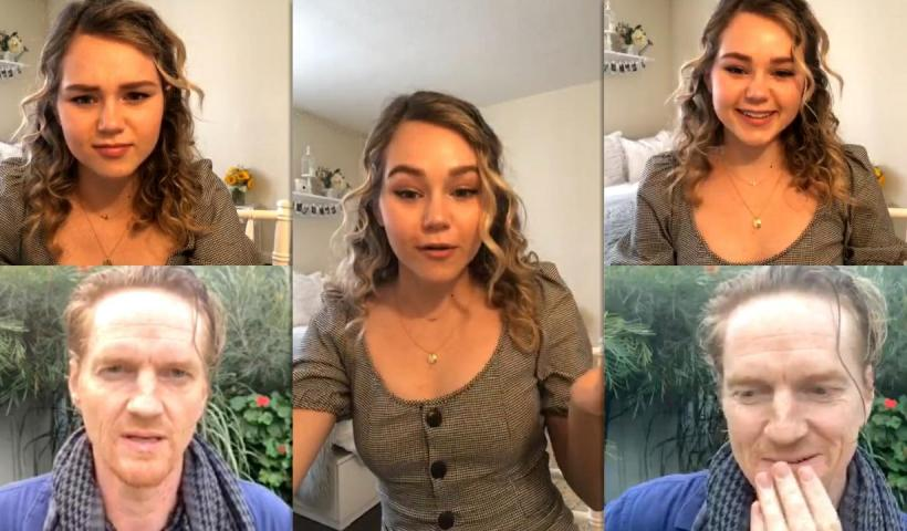 Brec Bassinger's Instagram Live Stream from May 27th 2020.