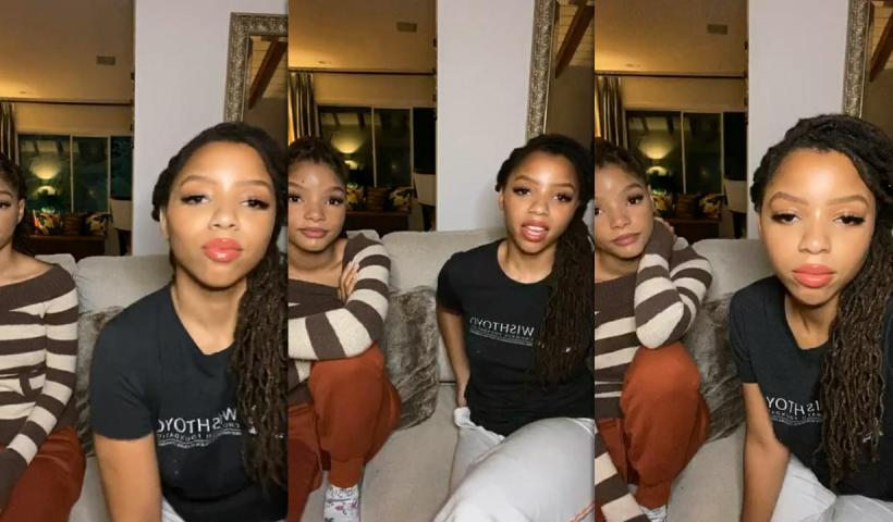 Chloe x Halle's Instagram Live Stream from May 28th 2020.