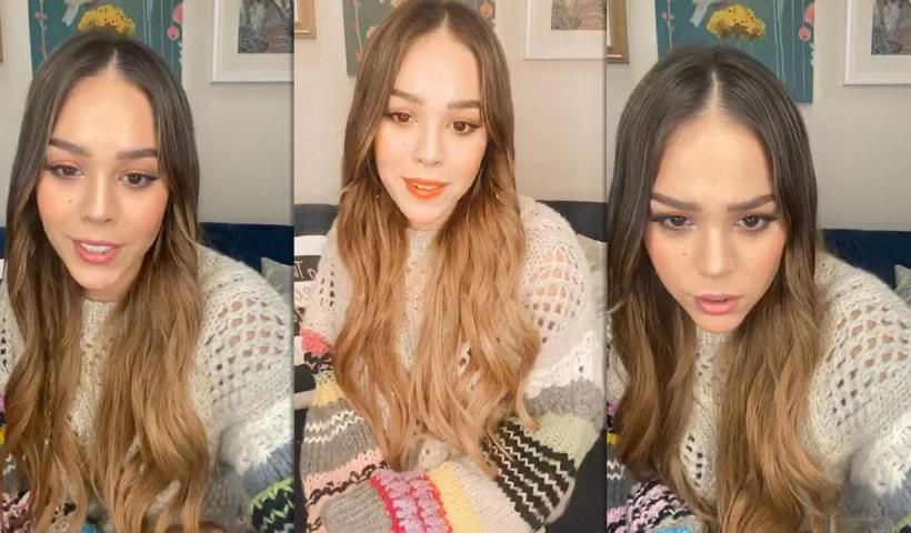 Danna Paola's Instagram Live Stream from May 20th 2020.