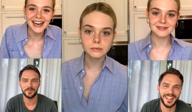 Elle Fanning's Instagram Live Stream from May 22th 2020.