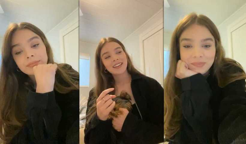 Hailee Steinfeld's Instagram Live Stream from May 4th 2020.