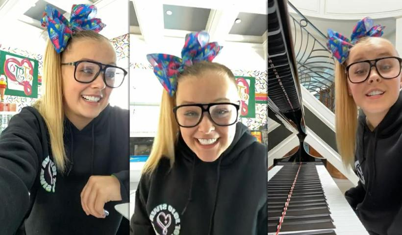 Jojo Siwa's Instagram Live Stream from May 8th 2020.
