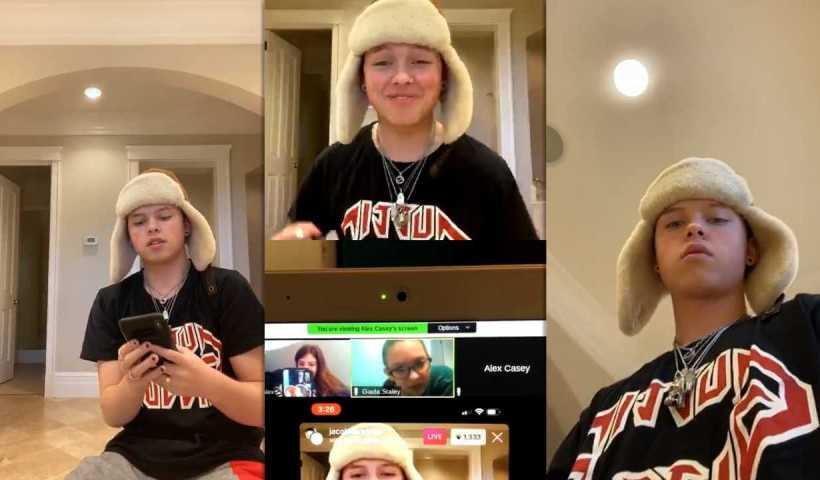 Jacob Sartorius Instagram Live Stream from May 1st 2020.