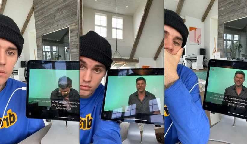 Justin Bieber's Instagram Live Stream from May 17th 2020.