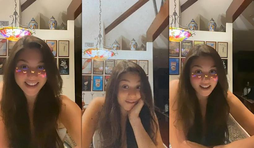 Kira Kosarin's Instagram Live Stream from May 13th 2020.
