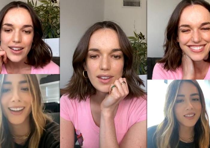 Elizabeth Henstridge's Instagram Live Stream with Chloe Bennet from May 27th 2020.
