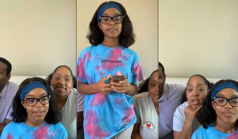 Marsai Martin's Instagram Live Stream from May 1st 2020.