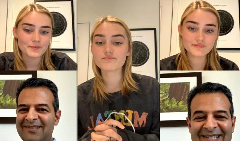 Meg Donnelly's Instagram Live Stream from May 21th 2020.