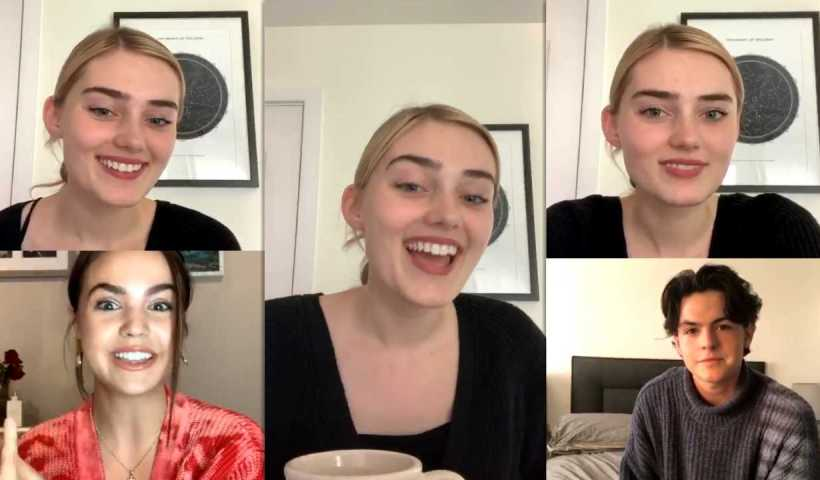 Meg Donnelly's Instagram Live Stream with Bailee Madison & Blake Richardson from May 4th 2020.
