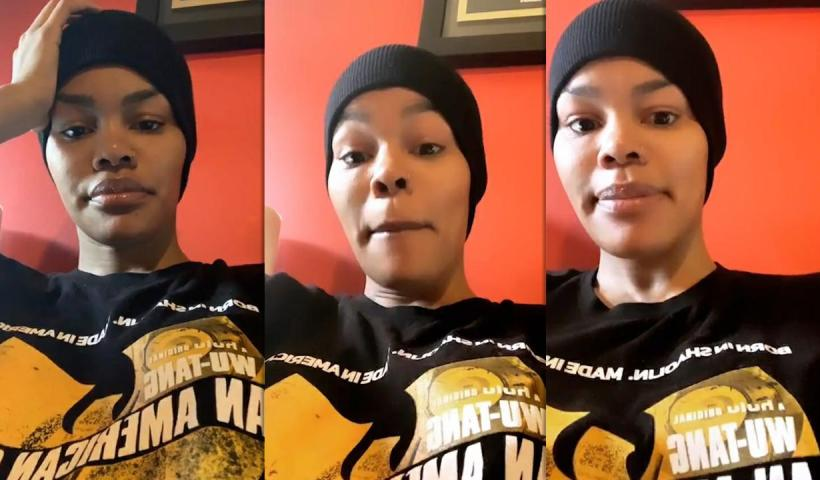 Teyana Taylor's Instagram Live Stream from May 15th 2020.