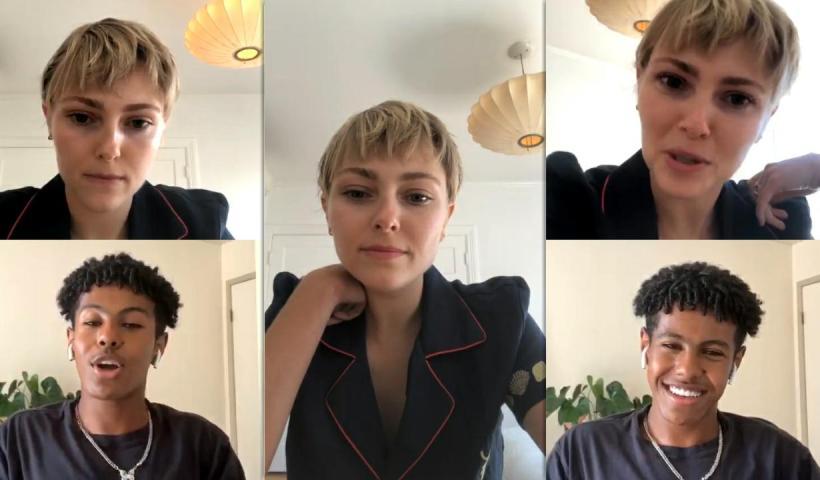 AnnaSophia Robb's Instagram Live Stream from July 15 2020.