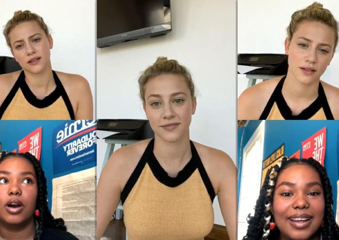 Lili Reinhart's Instagram Live Stream from July 2nd 2020.