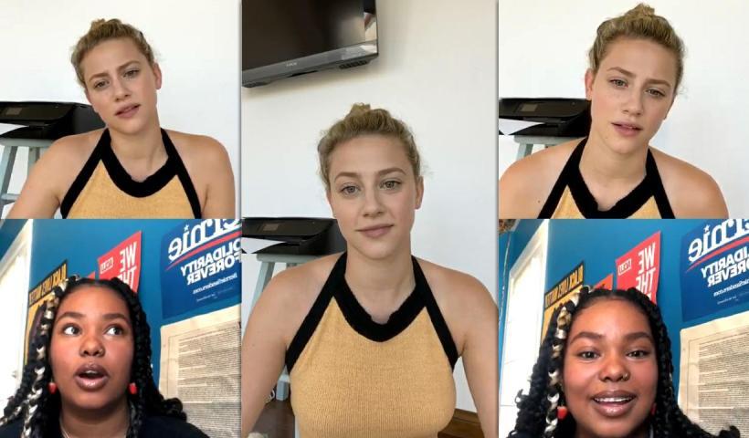 Lili Reinhart's Instagram Live Stream from July 2nd 2020.