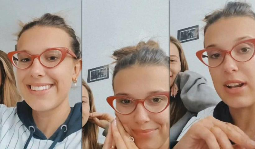 Millie Bobby Brown's Instagram Live Stream from July 21th 2020.