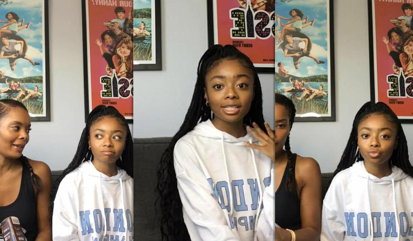 Skai Jackson's Instagram Live Stream from July 21th 2020.