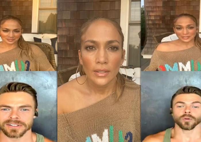 Jennifer Lopez's Instagram Live Stream from August 12th 2020.