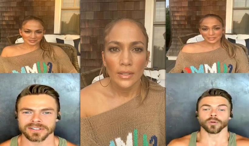 Jennifer Lopez's Instagram Live Stream from August 12th 2020.