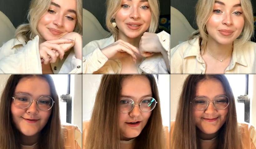Sabrina Carpenter's Instagram Live Stream from August 19th 2020.