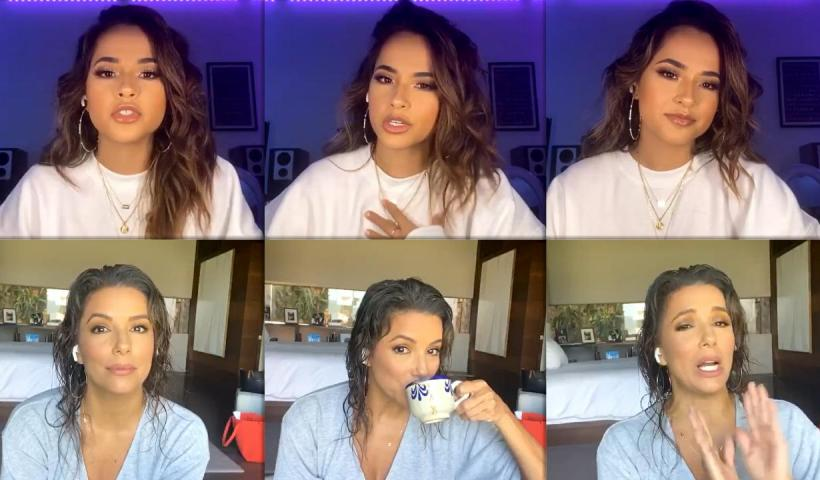 Becky G's Instagram Live Stream with Eva Longoria from October 2nd 2020.
