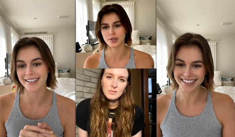 Kaia Gerber's Instagram Live Stream from October 27th 2020.