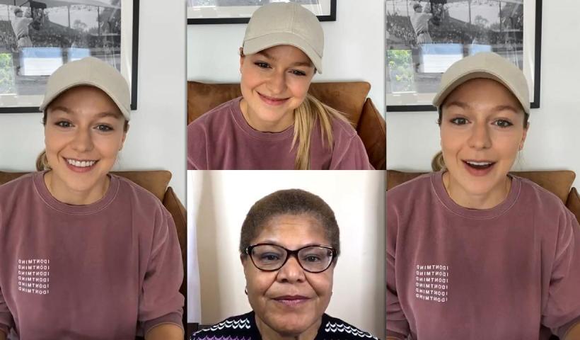 Melissa Benoist's Instagram Live Stream from October 17th 2020.