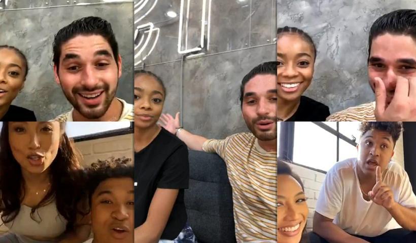 Skai Jackson's Instagram Live Stream with Alan Bersten from October 20th 2020.