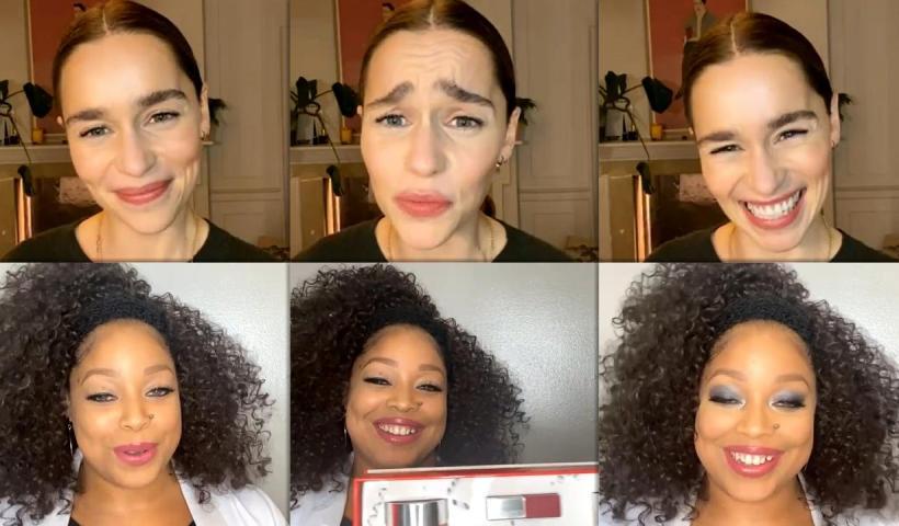 Emilia Clarke's Instagram Live Stream from November 23th 2020.