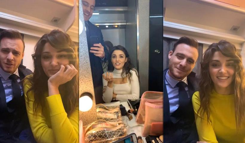 Hande Erçel's Instagram Live Stream with Kerem Bürsin from November 28th 2020.