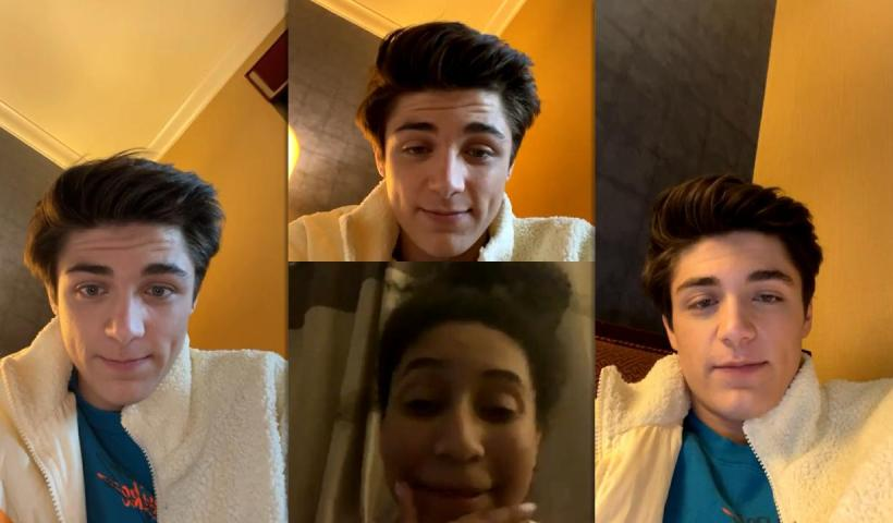Asher Angel's Instagram Live Stream from January 14th 2021.
