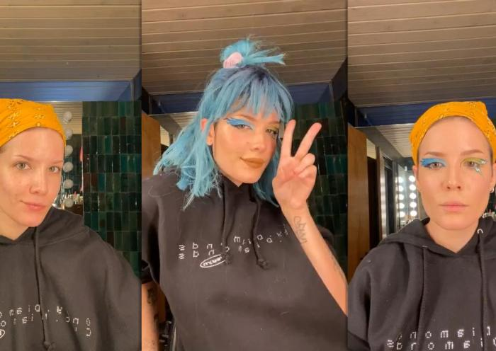 Halsey Instagram Live Stream from January 15th 2021.