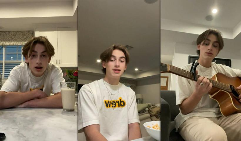 Johnny Orlando's Instagram Live Stream from January 13th 2021.