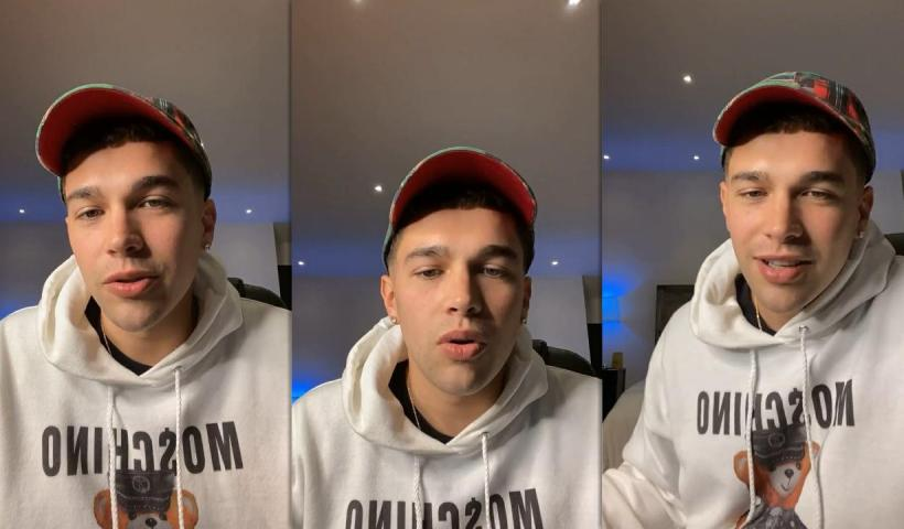 Austin Mahone's Instagram Live Stream from February 12th 2021.