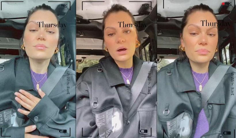 Jessie J's Instagram Live Stream from April 22th 2021.