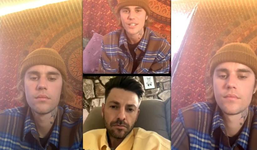 Justin Bieber's Instagram Live Stream from April 7th 2021.