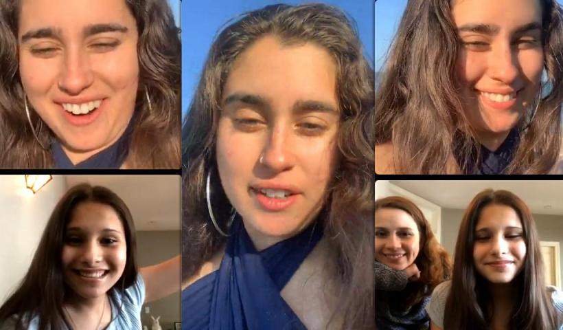 Lauren Jauregui's Instagram Live Stream with Fans from April 28th 2021.