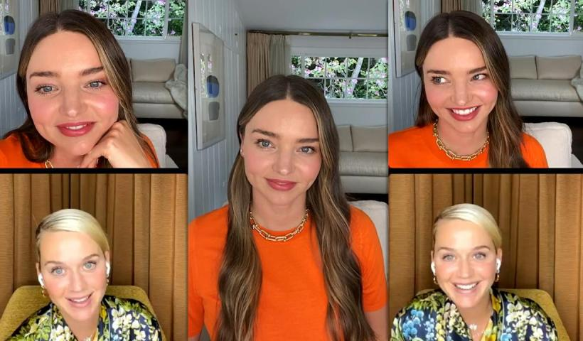 Miranda Kerr's Instagram Live Stream with Katy Perry from April 13th 2021.