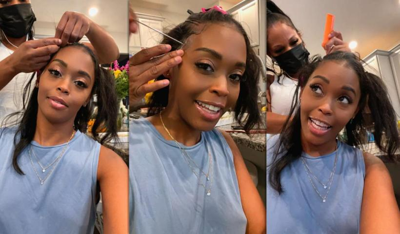 Nafessa Williams Instagram Live Stream from May 17th 2021.