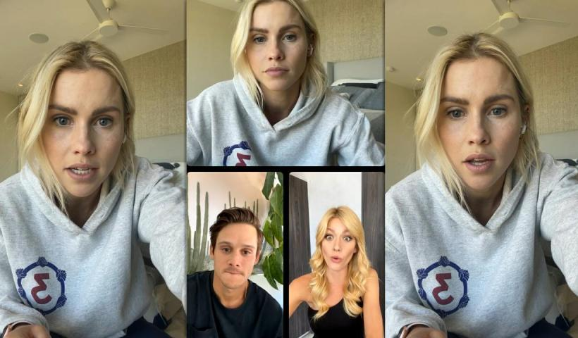 Claire Holt's Instagram Live Stream with Katherine McNamara from June 9th 2021.