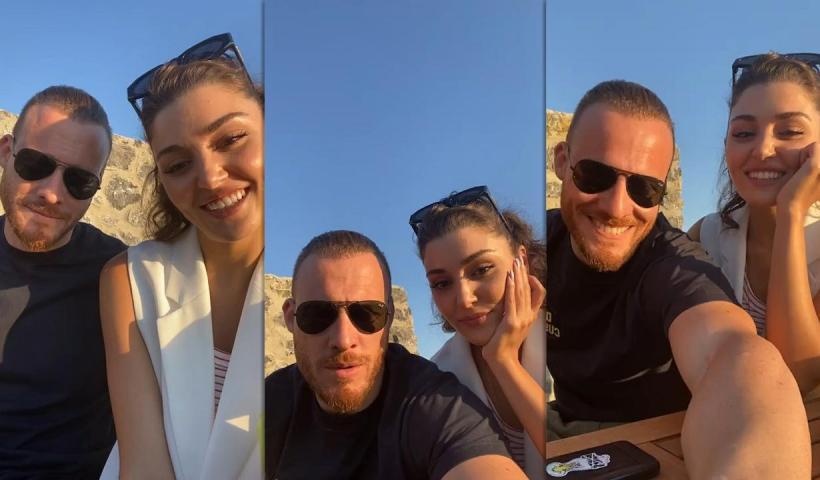 Hande Erçel's Instagram Live Stream with Kerem Bürsin from June 9th 2021.