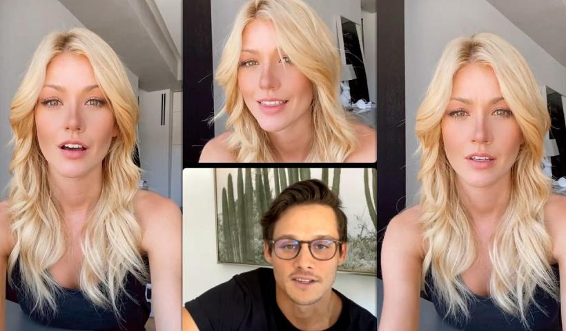 Katherine McNamara's Instagram Live Stream with Luke Baines and Timothy Granaderos from June 11th 2021.