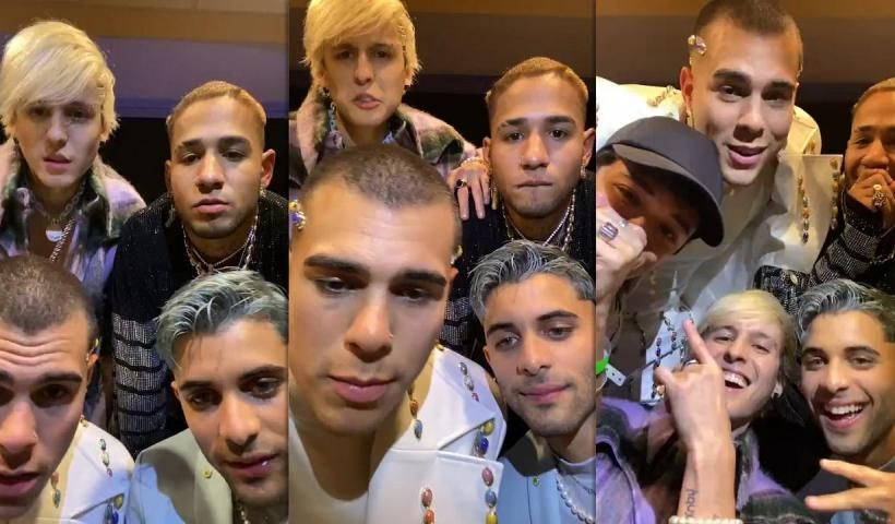 CNCO's Instagram Live Stream from July 22th 2021.