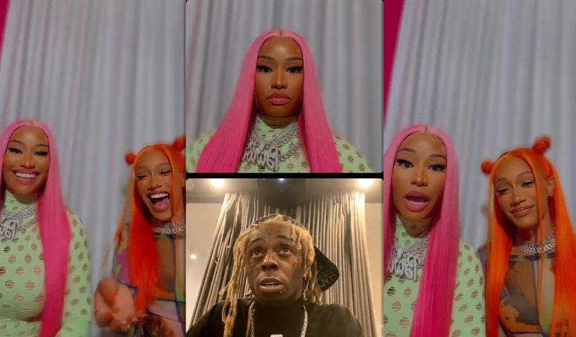 Nicki Minaj's Instagram Live Stream with BIA and Lil Wayne from July 8th 2021.
