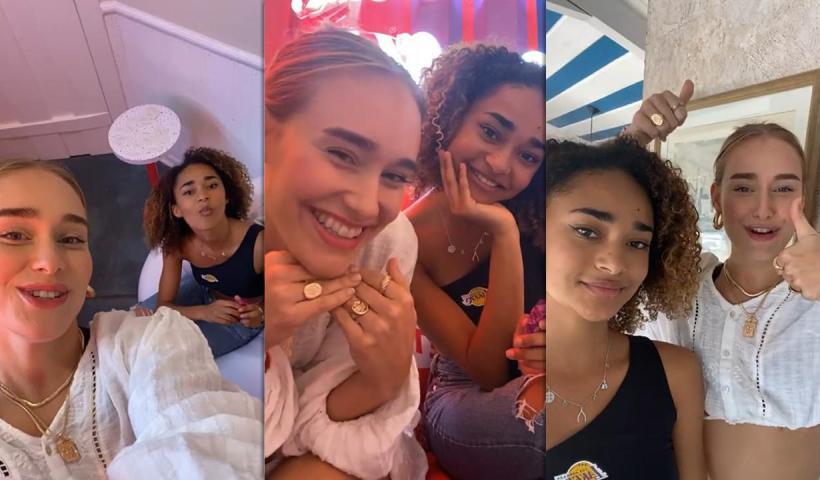Sina Deinert's Instagram Live Stream with Mélanie Thomas from July 11th 2021.