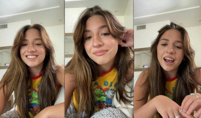 Mackenzie Ziegler's Instagram Live Stream from August 14th 2021.
