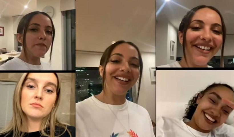 Jade Thirlwall's Instagram Live Stream with Leigh-Anne Pinnock and Perrie Edwards from September 16th 2021.